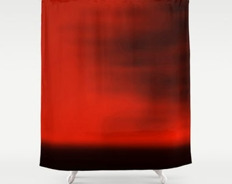 Red Blurred Sky Shower Curtain - For Dawn