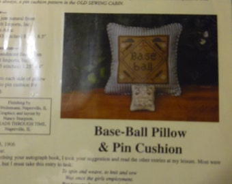 Baseball Pillow and Pin Cushion by Marry Garrys Sewing Cabin