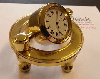 Solid Brass Captain's Clock
