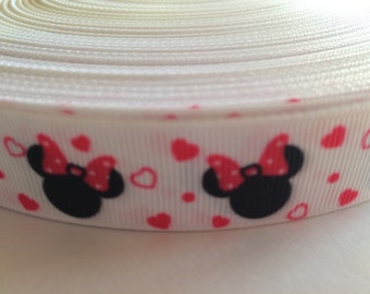 "Minnie Mouse 7/8"" Grosgrain Ribbon - 5 Yards, Pink"