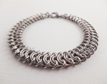 Stainless Vertebrae Bracelet - Stainless Steel Vertebrae Chain Maille Bracelet
