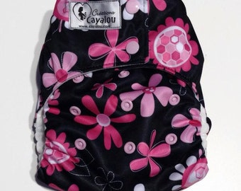 Layer of pool reusable swimsuit adjustable multitaille for baby girl flowers