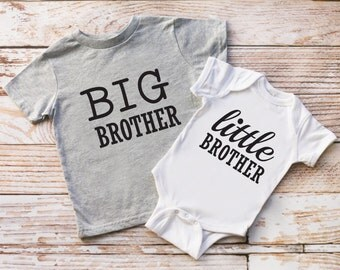 Big Brother and Little Brother shirts, Big Bro and Lil Bro tshirt set, New Baby Announcement, Siblings shirts, Big Bro Shirt, Lil Bro Shirt