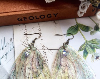 Rather pretty woodland Faerie wing earrings