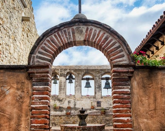 Mission San Juan Capistrano Bells Print Orange County California Fine Art Photograph Wall Art Decor | Also Available on Canvas or Metal