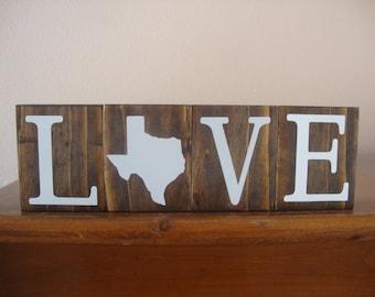 Texas Blocks. Home Blocks. Texas Decor. Home State Decor. Rustic Decor. Wood Blocks. TX Decor. TX Blocks. Love Blocks
