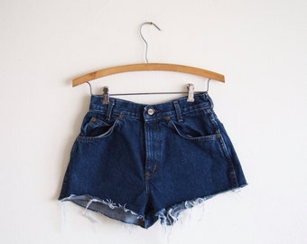 vintage denim cut off shorts