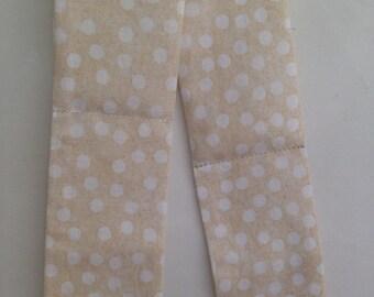 Beige polka dot Neck cooler, cooling neck wrap, coolIng scarf, hot flash relief scarf
