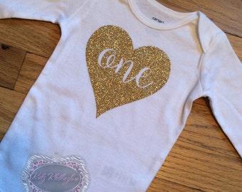 1st Birthday Onesie One Onesie Shirt Onesie Glitter Onesie Funny Shirt Personalized Onesie Personalized Glitter Onesie