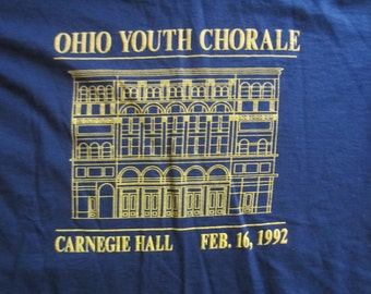 Vintage 90s Ohio Youth Chorale Carnegie Hall T Shirt 1992