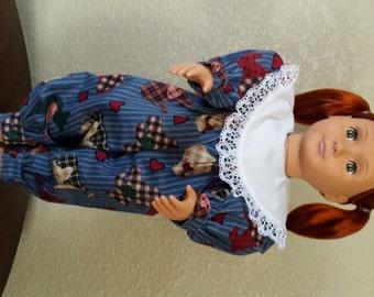 18 Inch Doll 1 piece jumper