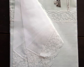 Set of two unused handkerchiefs