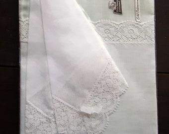 Set of two unused handkerchiefs