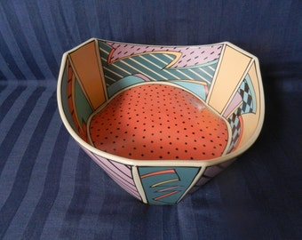 """Fabulous , iconic and very rare Rosenthal Studio Line """" Flash """" largest serving bowl design by Dorothy Hafner eighties 20th century, MINT !"""