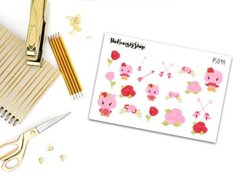 Woodland Romance Decor | Set of 18 Stickers | Perfect for all planners.