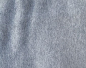 Heather Gray Cotton Spandex Jersey Knit 10 oz Fabric by the Yard #367