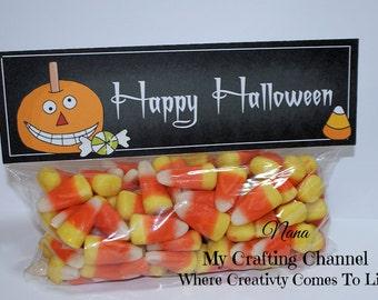 Halloween Pumpkin Treat Bag Toppers-Bag Topper-Halloween Bag Topper-Halloween-Topper-Pumpkin-Pumpkin Topper-Halloween Topper