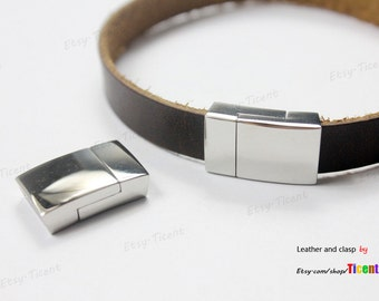 10mmx2.5mm Hole Stainless Steel Clasp Magnetic Bracelet Clasp MT620