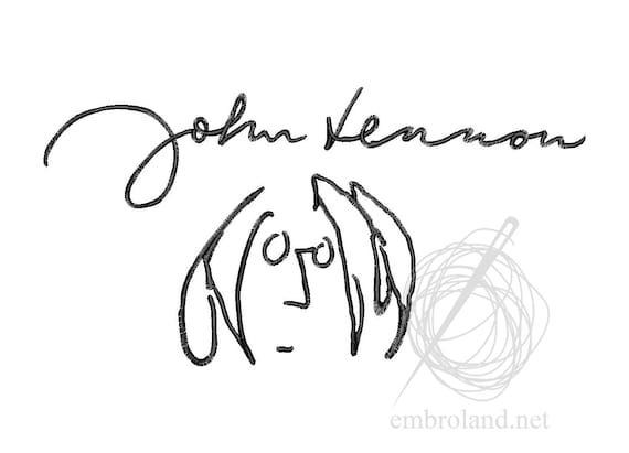 John Lennon Signatures : john lennon signature autograph machine embroidery design ~ Hamham.info Haus und Dekorationen