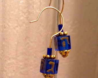 Dreidel Earrings