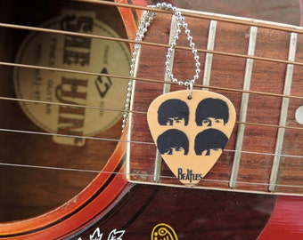 The Beatles Guitar Pick Necklace