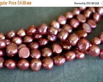 10% OFF SALE Purple Pink Freshwater Pearls, 7mm, 20 Beads, Genuine Freshwater Pearls, Pink Purple Genuine Freshwater Pearls