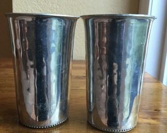 Vintage BW Buenilum Hammered Aluminum Cups