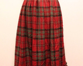 70s vintage glenscot kilt skirt made in scotland