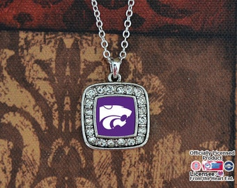 Kansas State Wildcats Square Necklace