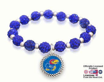 Kansas Jayhawks Sparkle Stretch Bracelet