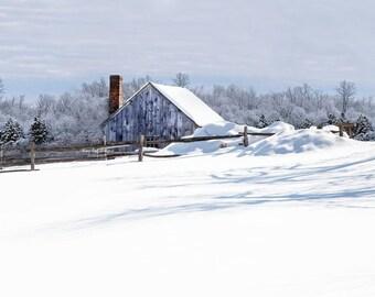 5 x 7 Original Photographic Print - Winter Countryside