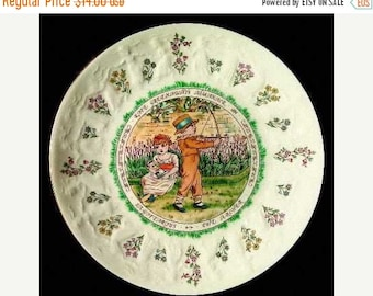 VINTAGE SUMMER SALE Royal Doulton - Kate Greenway Almanack Plate, 1977, Sagittarius- November- New in Box with pamphlet