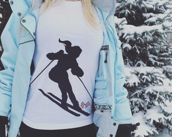 SKI SHIRT, WOMENS Skiing T-shirt
