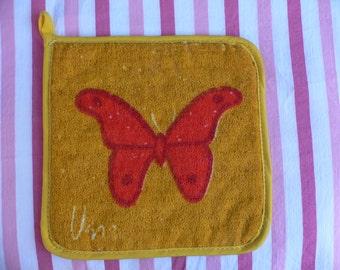 Vintage Vera Butterfly Hot Pad Pot Holder