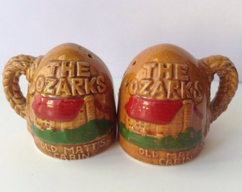 The Ozarks Salt and Pepper Shakers Made in Japan