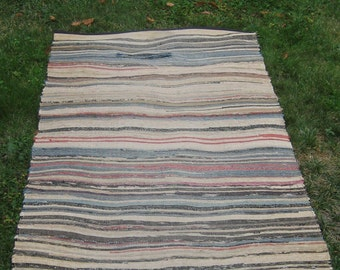 Vintage American Country Rag Rug  Opportunity