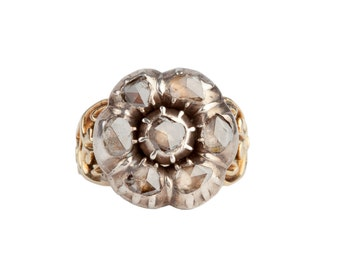 Diamond Georgian Ring, Rose Cut Diamonds