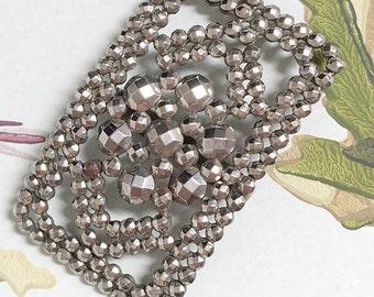 Fabulous French Cut Steel Vintage Dress Trim Belt Buckle Accessory Collector's Item