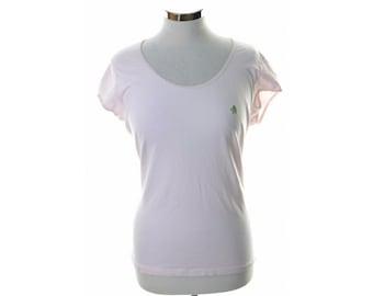 Donaldson Womens T-Shirt XXL Pink Cotton Elastane