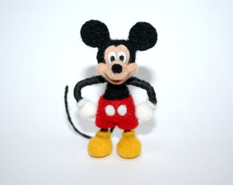 Mickey Mouse. Neddle Felted Mickey Mouse. Felt Mickey Mouse. Made to Order.