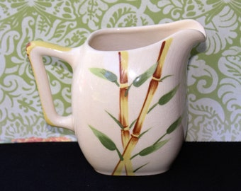 Vintage WEIL WARE BAMBOO Pitcher/Creamer California Pottery