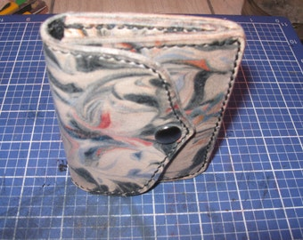 Leather Marble wallet Business Card Holder, Credit card holder, Simple card case