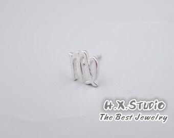 Silver Zodiac - Virgo - Earrings, 12 Zodiacal Constellations Earrings, Astrology Earrings, Gift