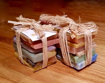 Soap Sampler Set , Soaps pieses,Natural Handmade Gift ideas- Soap Ends,Handmade soap, Cold Process soap, essential oil soap, vegan soap