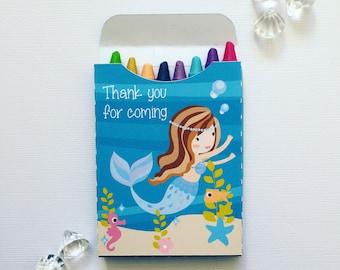 Mermaid crayon boxes