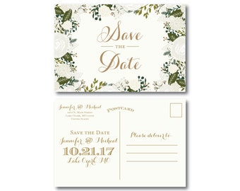 PRINTABLE Save the Date Postcard, Printable Save the Date, Wedding Save the Date, Save-the-Date, Wedding Postcard, Save our Date #CL120