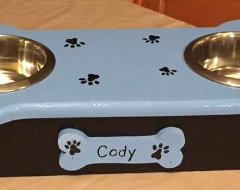 Customized dog bowl