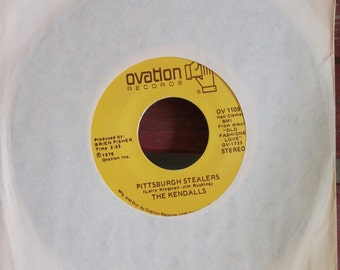 "The Kendalls, Pittsburgh Stealers/When Can We Do This Again, Vintage 45 RPM 7"" Single Record, American Country Duo,"