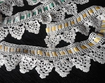 lace/lace crochet border/handmade