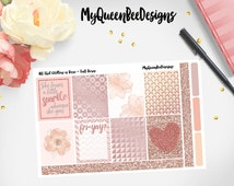 ROSE GOLD planner stickers - All That Glitters Full Box set. For Erin Condren Life Planners, Sew Much Crafting Inserts, Filofax, agendas